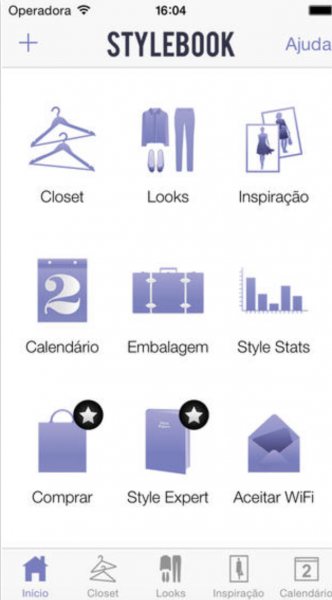 stylebook app para organizar armários e mala de viagem