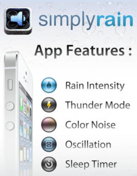 sites e apps para ouvir barulho de chuva
