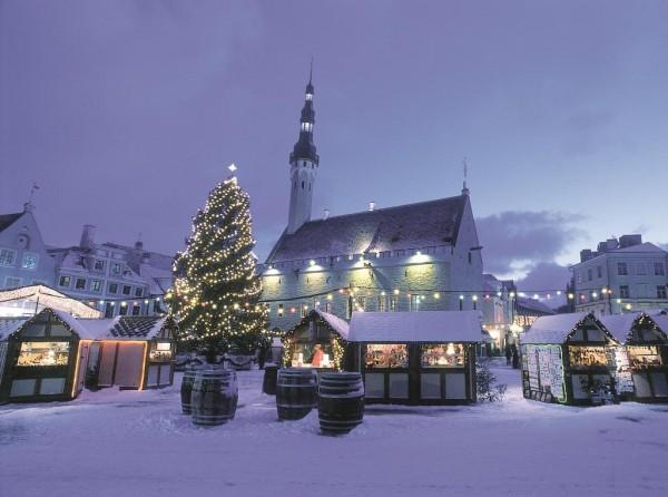 Tallinn inverno dezembro natal