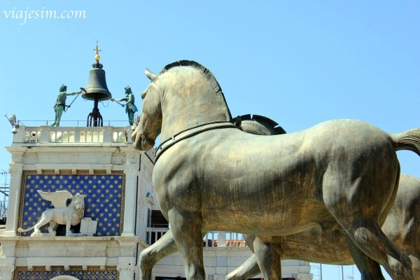 quadriga cavalos de são marcos basílica de são marcos veneza