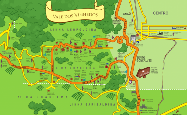 mapa vale vinhedos