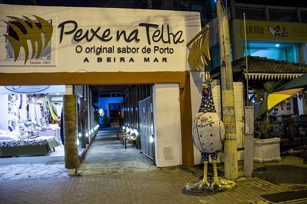 Onde comer em Porto de Galinhas Peixe na Telha - entrada