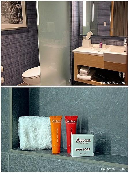 Onde ficar em Miami Hotel para enxoval do bebe em Miami Atton Brickell Miamionde ficar detalhes banheiro