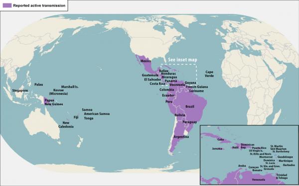 Escolhendo destino de babymoon países sem zika
