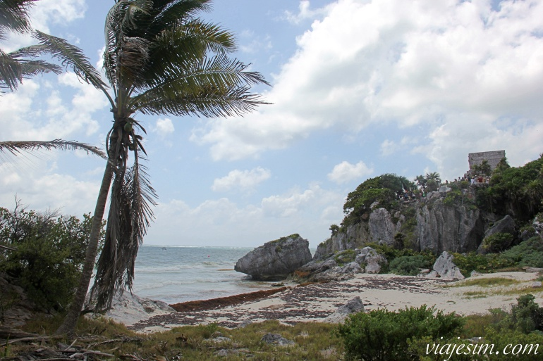 Praia nas ruínas de Tulum
