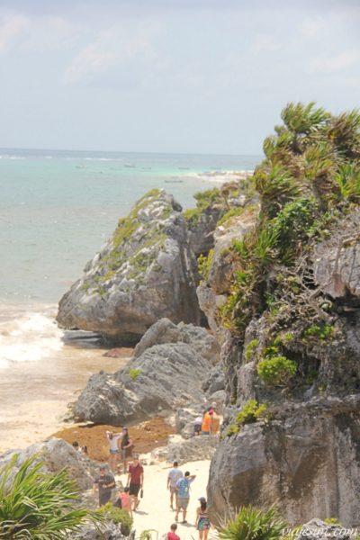 Playa Paradiso em Tulum vista de cima