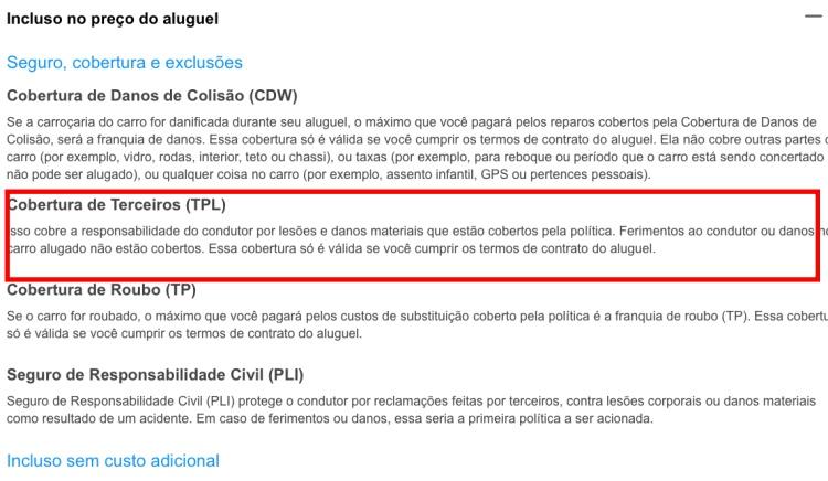 Tela do buscador de carros Rental Cars para alugar carro no México