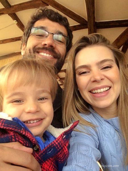 Família sorrindo em Bento Gonçalves