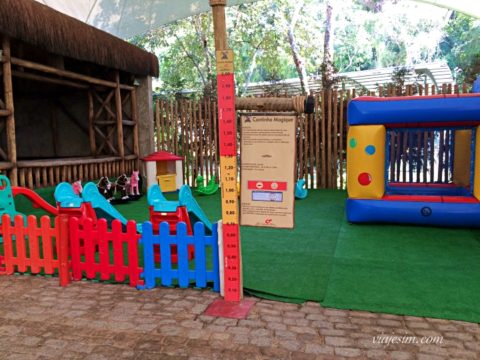 área baby no Parc Magique